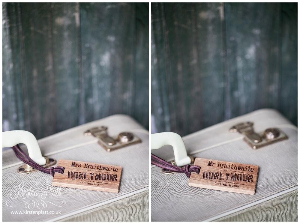 Bespoke and Oak Personalised Honeymoon Luggage Tags