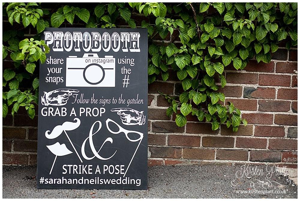 Bespoke and oak Co Personalised Instagram Photobooth Board