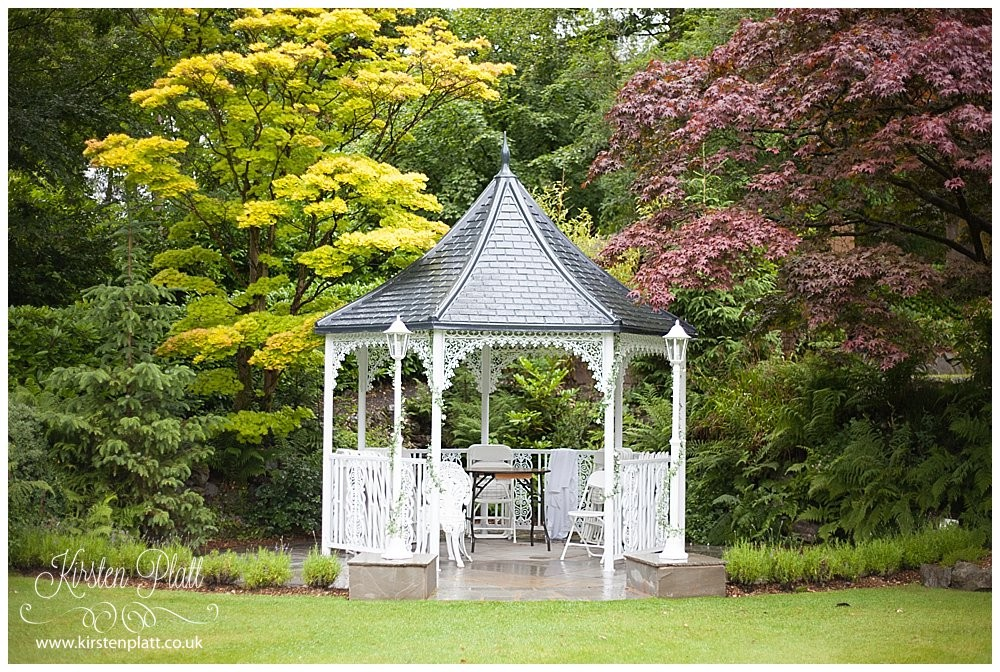 Broadoaks Country House Hotel Troutbeck Gazebo for outside wedding ceremonies