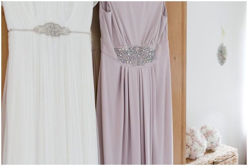 wedding dress and bridesmaids dress