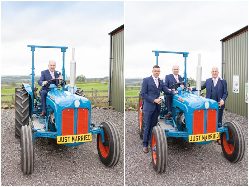Groom and tractor